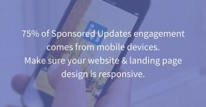 LinkedIn Sponsored Update Mobile Engagement Statistic via blog.adstage.io