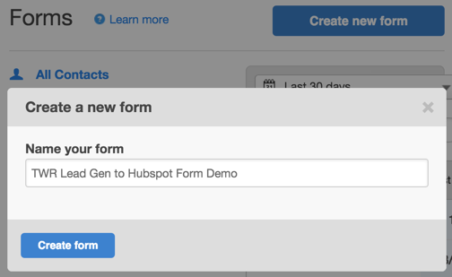 Hubspot Form Name