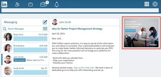 LinkedIn Sponsored InMail Inbox via blog.adstage.io