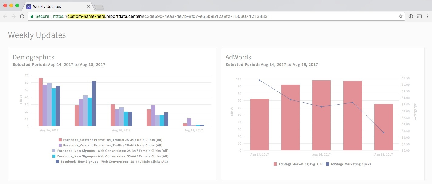 white label URL for branded PPC reports -- AdStage