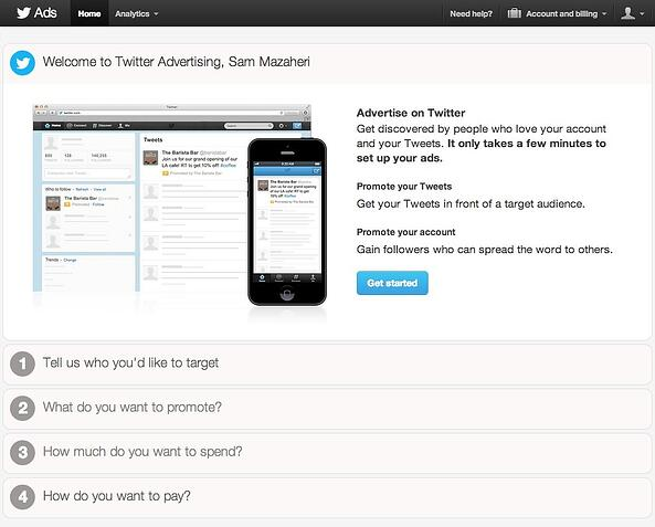 Getting Started with twitter ads