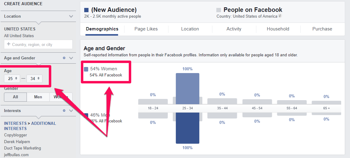 facebook audience personas