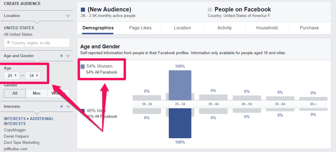 facebook audience personas
