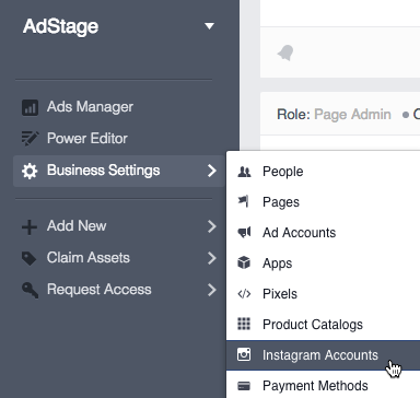 Connecting Instagram in Business Manager