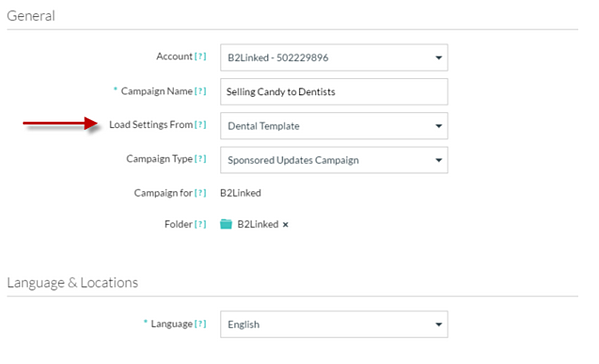 Copy Existing LinkedIn Campaign Targeting Settings