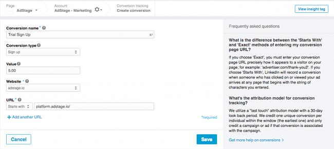 LinkedIn Conversion Tracking Action via blog.adstage.io