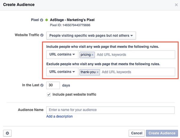 Creating a FB Audience