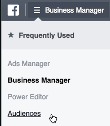 Facebook Business Manager - Audiences