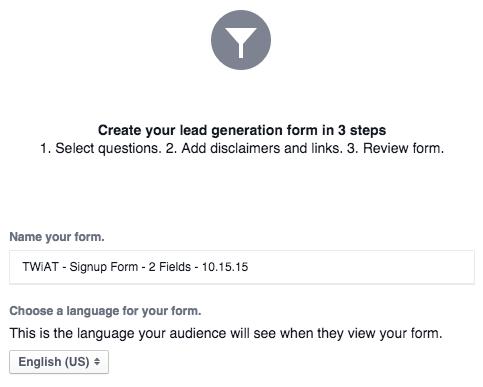 Lead Ads form name