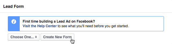 Lead Ads form button