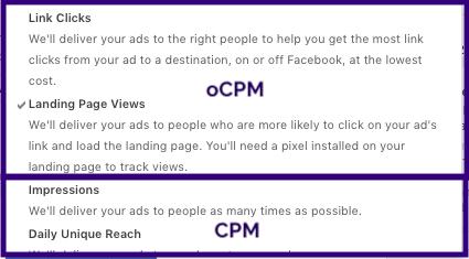 Facebook oCPM Bidding in Ads Manager