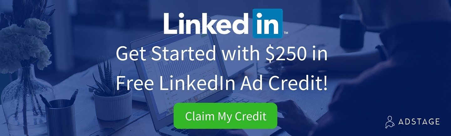 Get Started with $250 in Free LinkedIn Ad Credit! via blog.adstage.io
