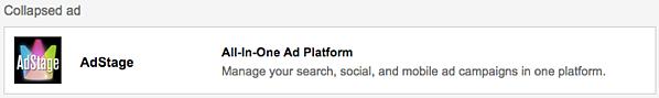 Gmail Ads - Collapsed Ad