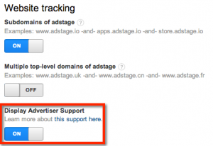 Google Analytics Display Tracking