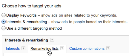 Google Remarketing Lists