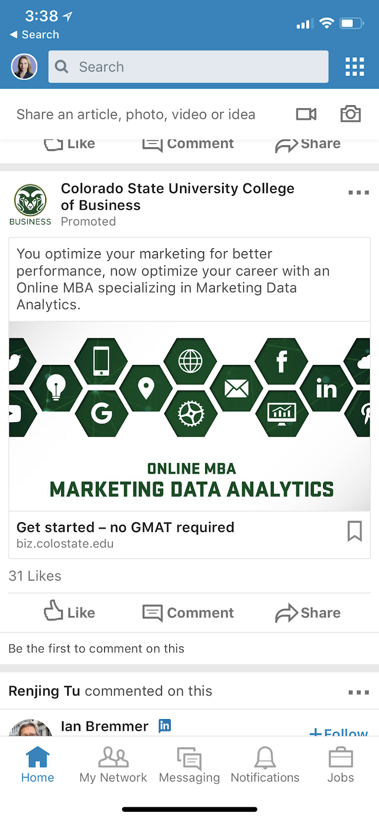 linkedin mobile ads
