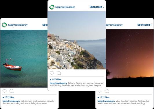 Instagram Travel Ad Example