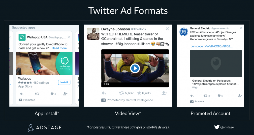 Mobile Twitter Ad Unit Formats via blog.adstage.io