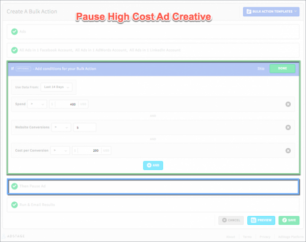 Pause Ad Creative Automate Bulk Actions via blog.adstage.io