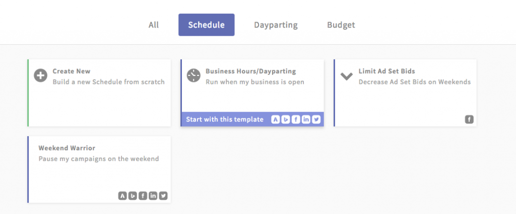 paid search automated ad schedule