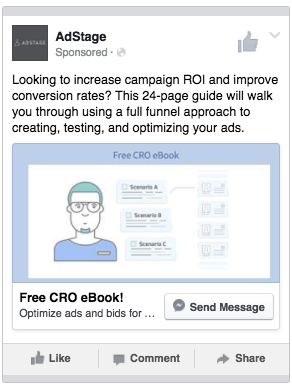 Messenger Ads Example