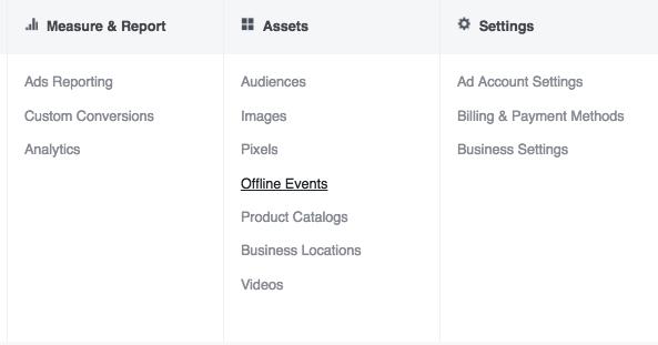 facebook offline events manager