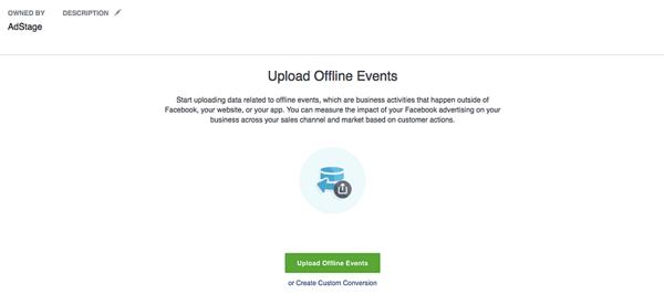 Facebook Upload Offline Events