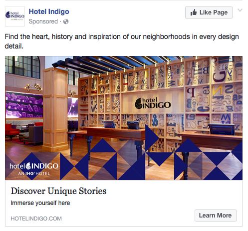Hotel Indigo Facebook Ad