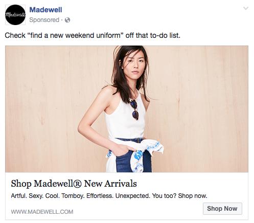 Madewell Facebook Ad