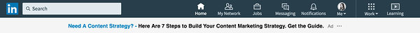 linkedin text ads content strategy