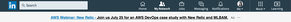 linkedin text ads aws webianr