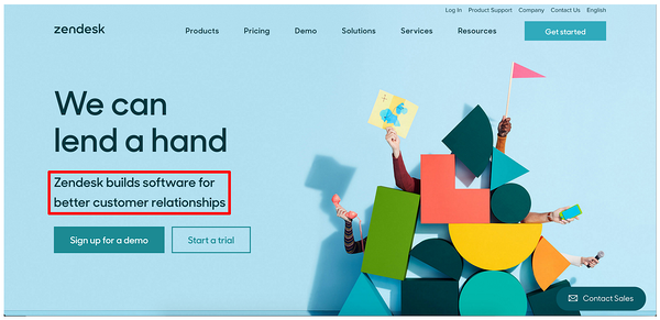 converting landing pages example -- zendesk