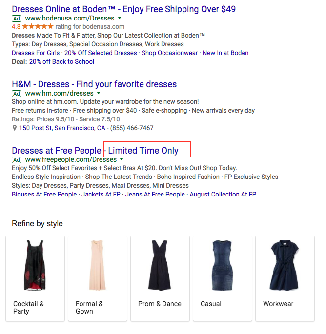 how to write text ads -- example
