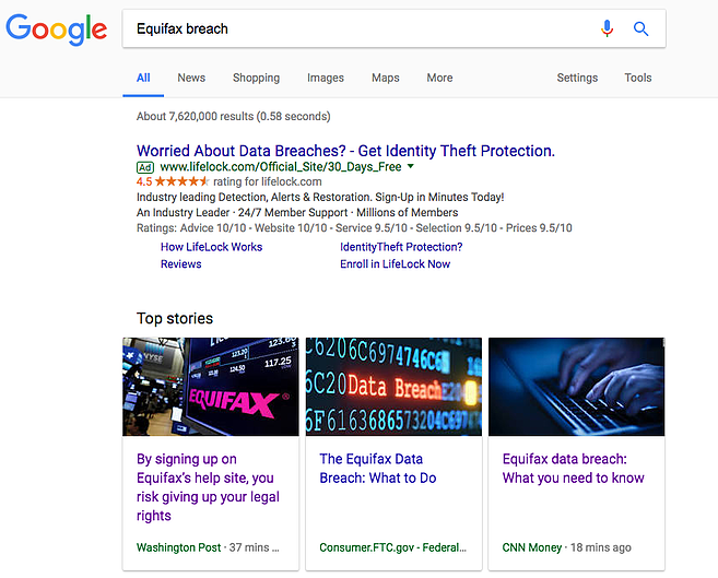 paid search for branding -- equifax