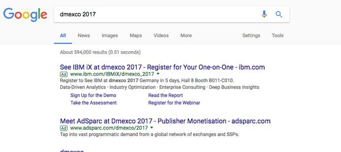 dmexo 2017 google search