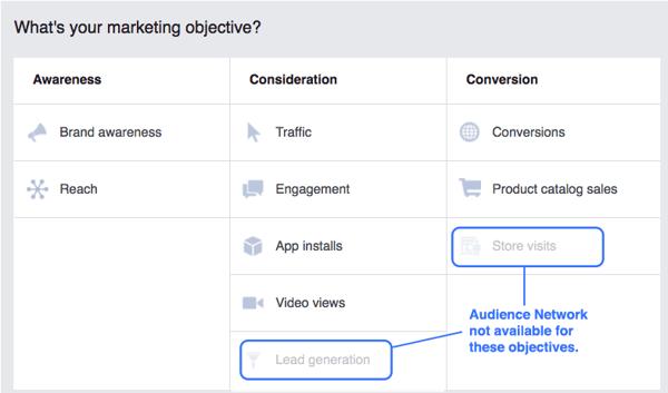 Facebook Marketing Objective