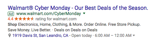 adwords callouts ecommerce
