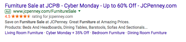 adwords extensions cyber monday