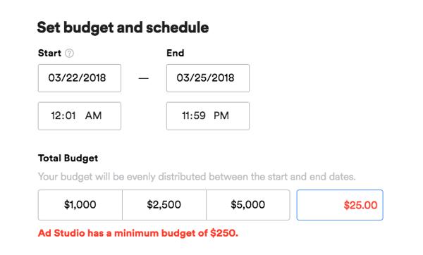 spotify ads budget