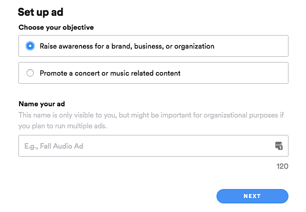 spotify ads self-serve platform