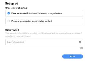 spotify ads self-serve platform