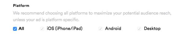 spotify ads targeting by platform
