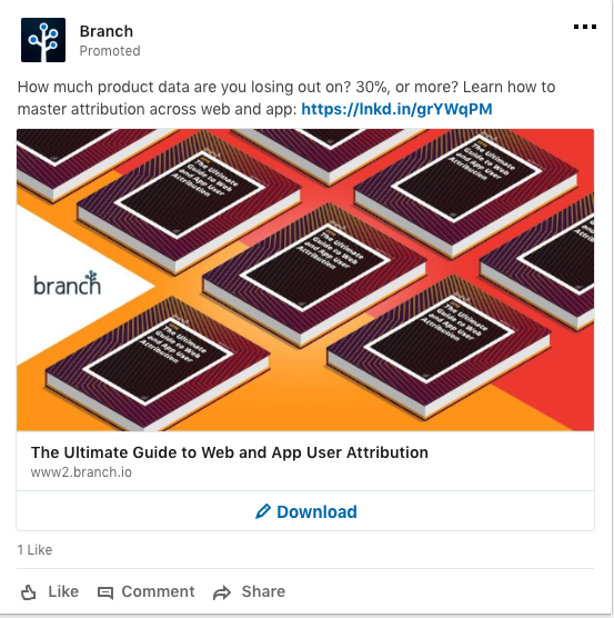 linkedin ads branch