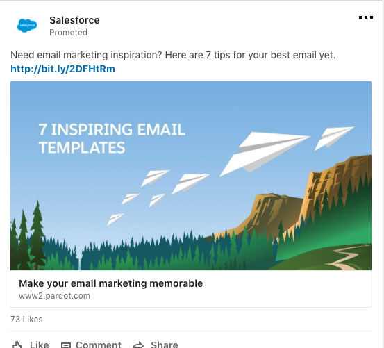 linkedin ads - salesforce