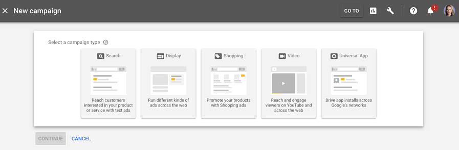 trueview campaigns adwords UI