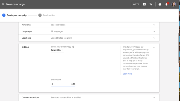 new campaigns adwords ui 2018