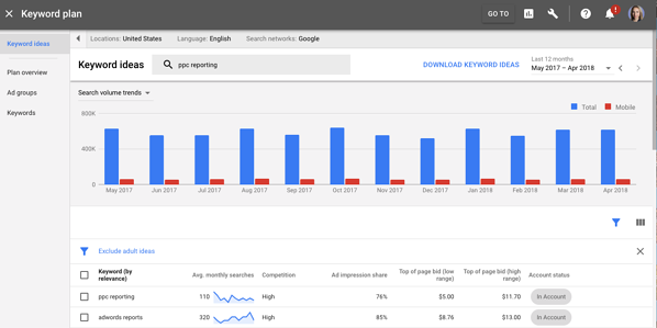 new keyword planner adwords ui