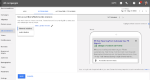 adwords UI 2018 adstage