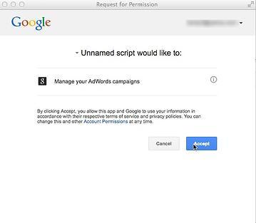 adwords script example authorization