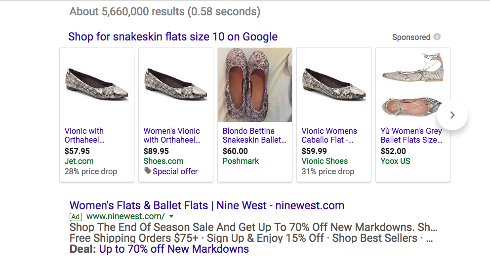 See Google Shopping Results Appear ABOVE Paid Ads.
